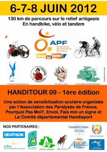 Handitour, Ariège, APF, vélo, tandem, handbike